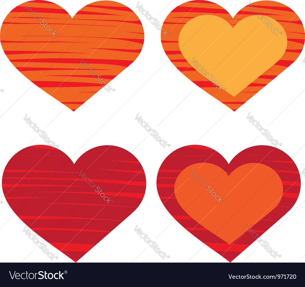 Heart valentines day card vector