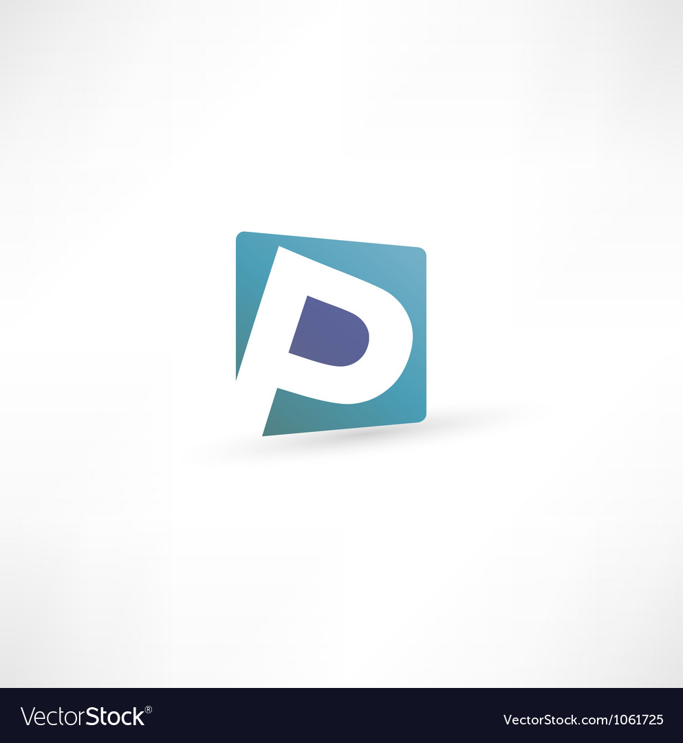 Abstract icon based on the letter vector