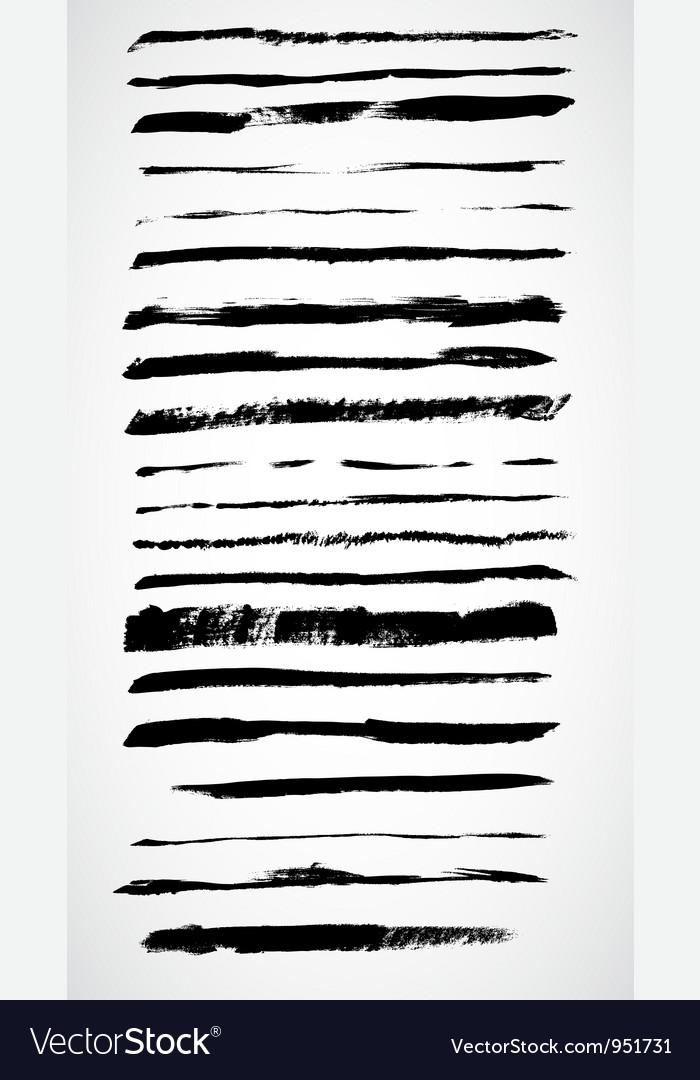 Grunge ink lines vector