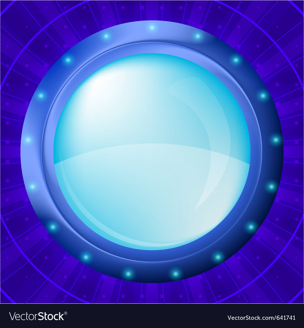 Glass porthole vector