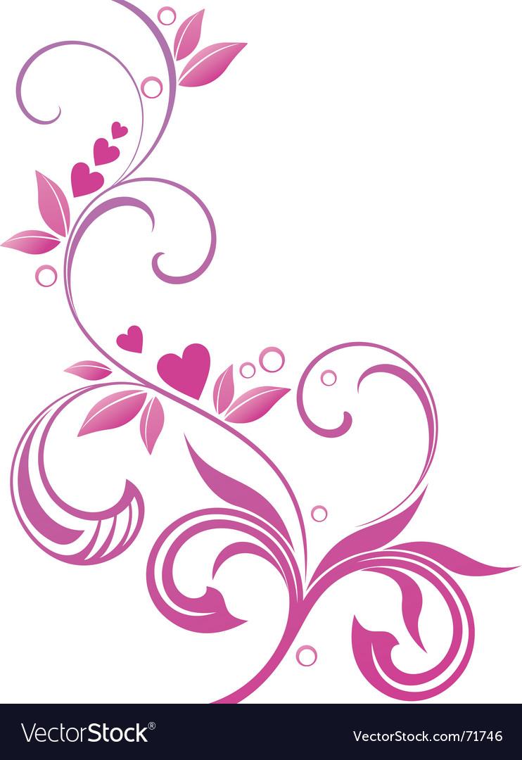 Floral spiral vector by sanjar image 71746 vectorstock