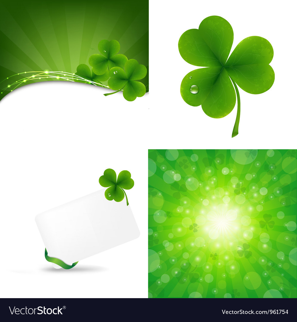 Clover backgrounds vector