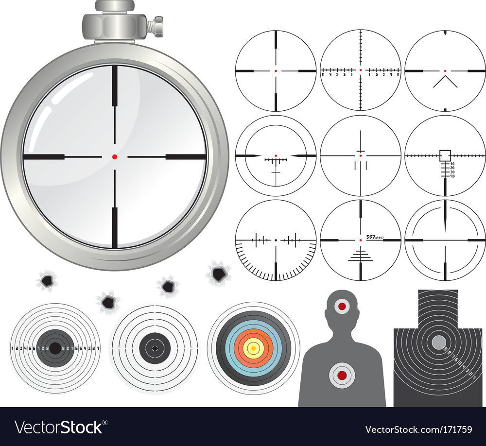 Shooting kit vector