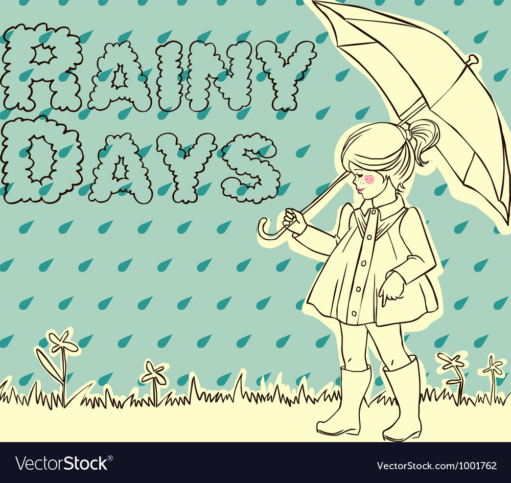 Rainy days vector