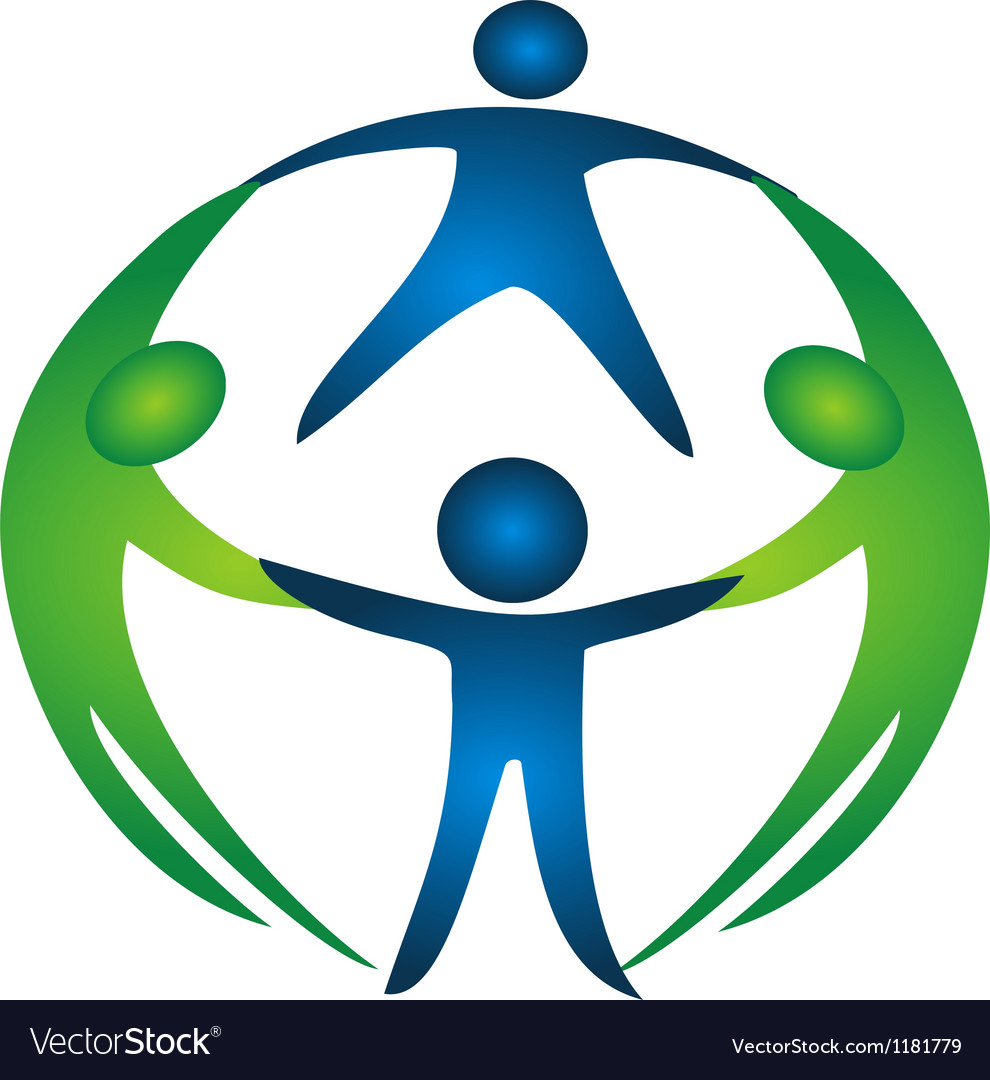 Group of teamwork logo vector