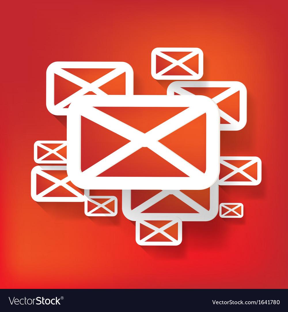 Web letter icon vector