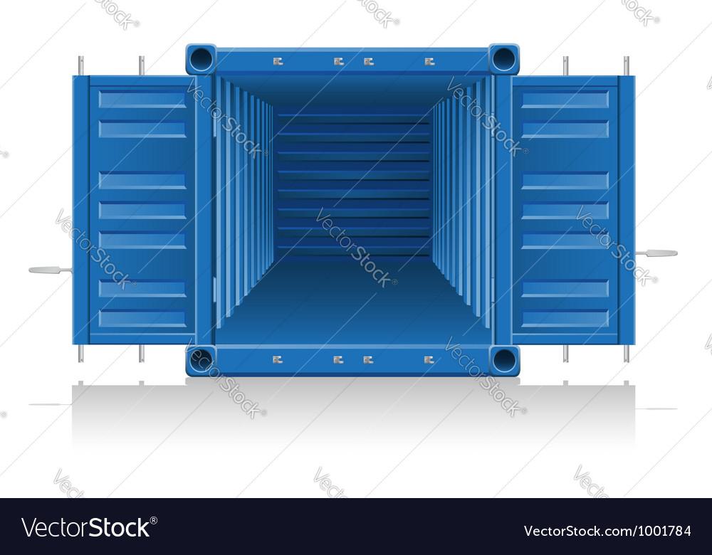 Cargo container 04 vector