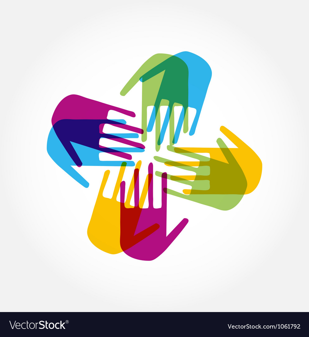 People connected icon vector