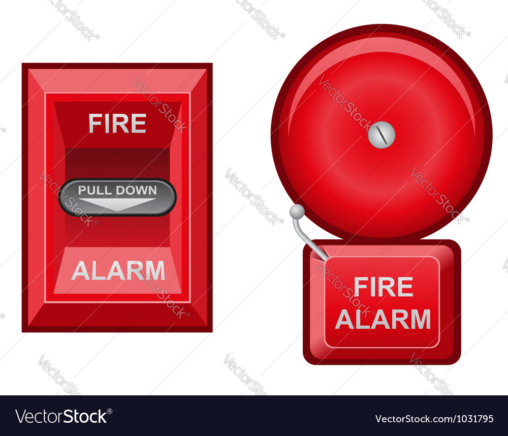 Fire alarm vector