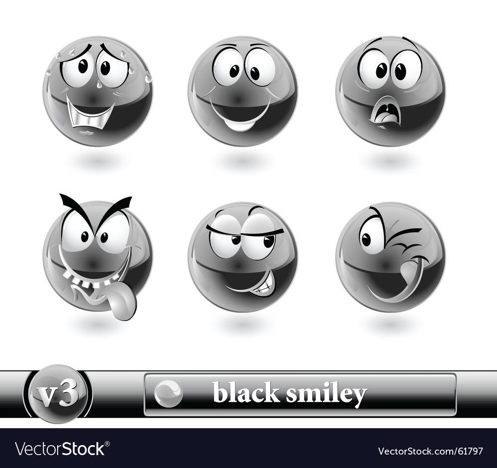 Black smiley vector