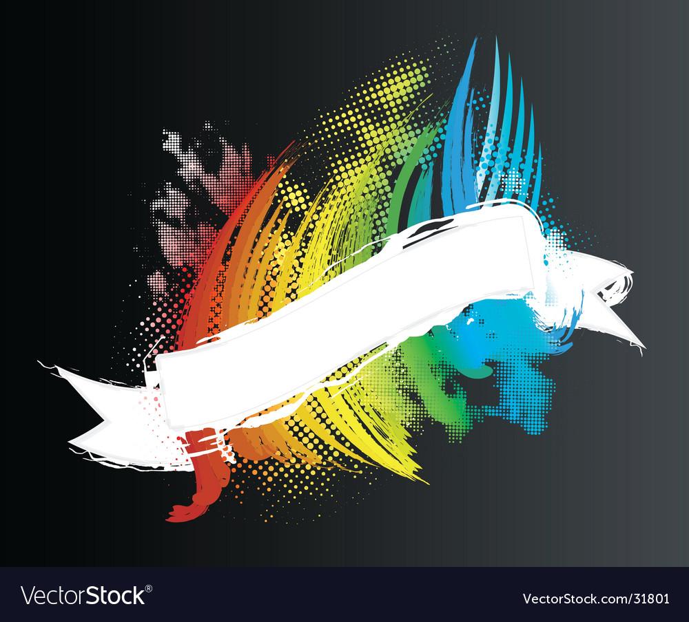 Rainbow ribbon banner vector