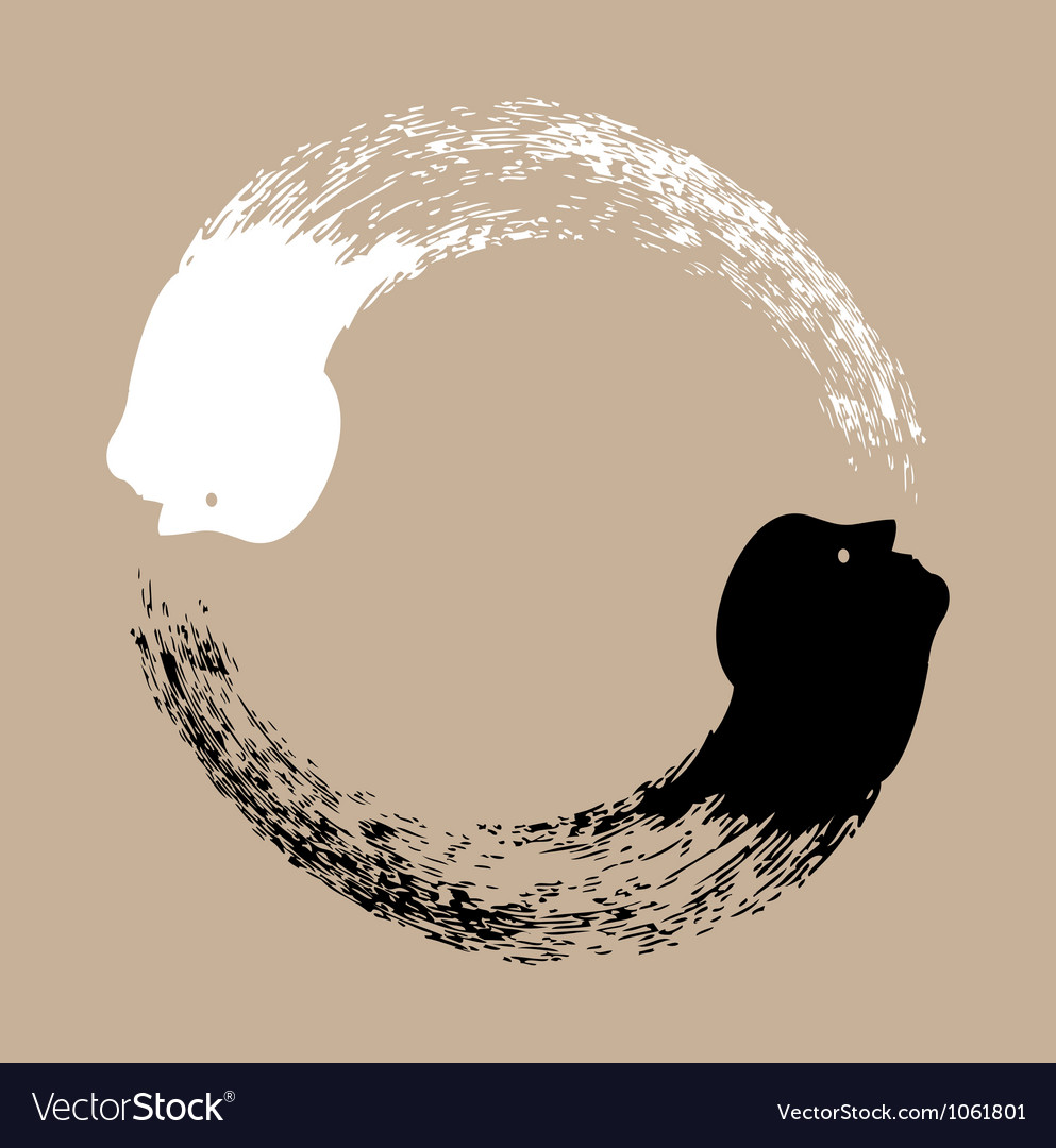Taichi yin and yang vector