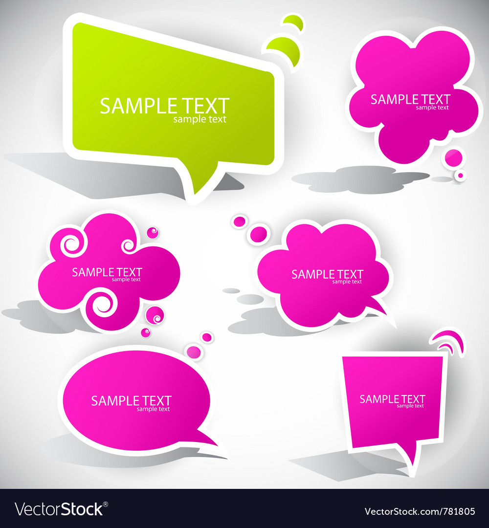 Colorful paper bubble for speech vector