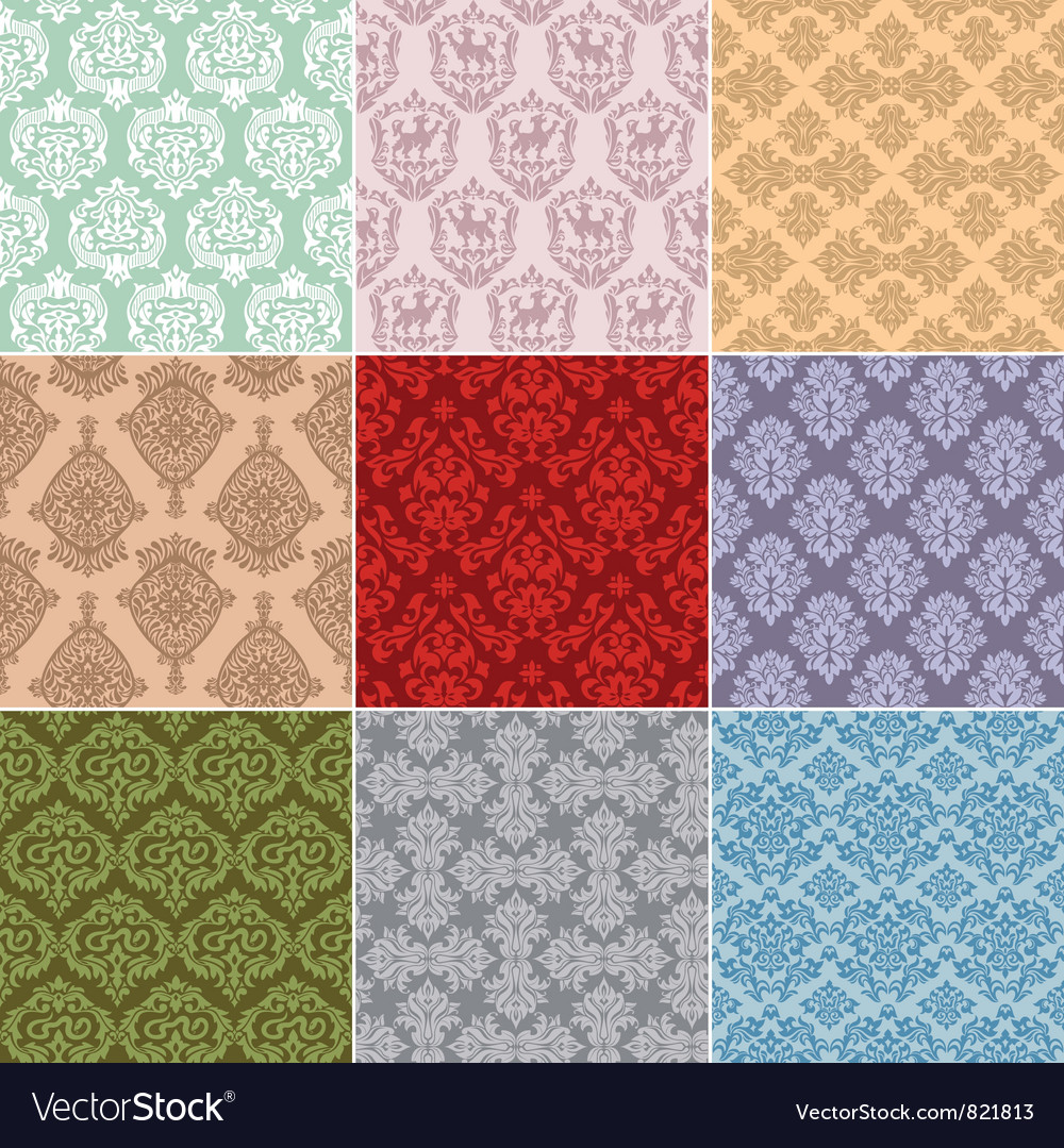 Seamless retro background vector