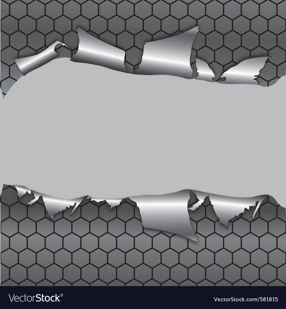 Hexagon metallic background vector