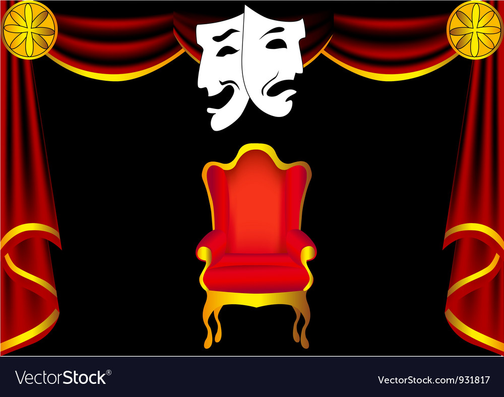 Drama stage vector