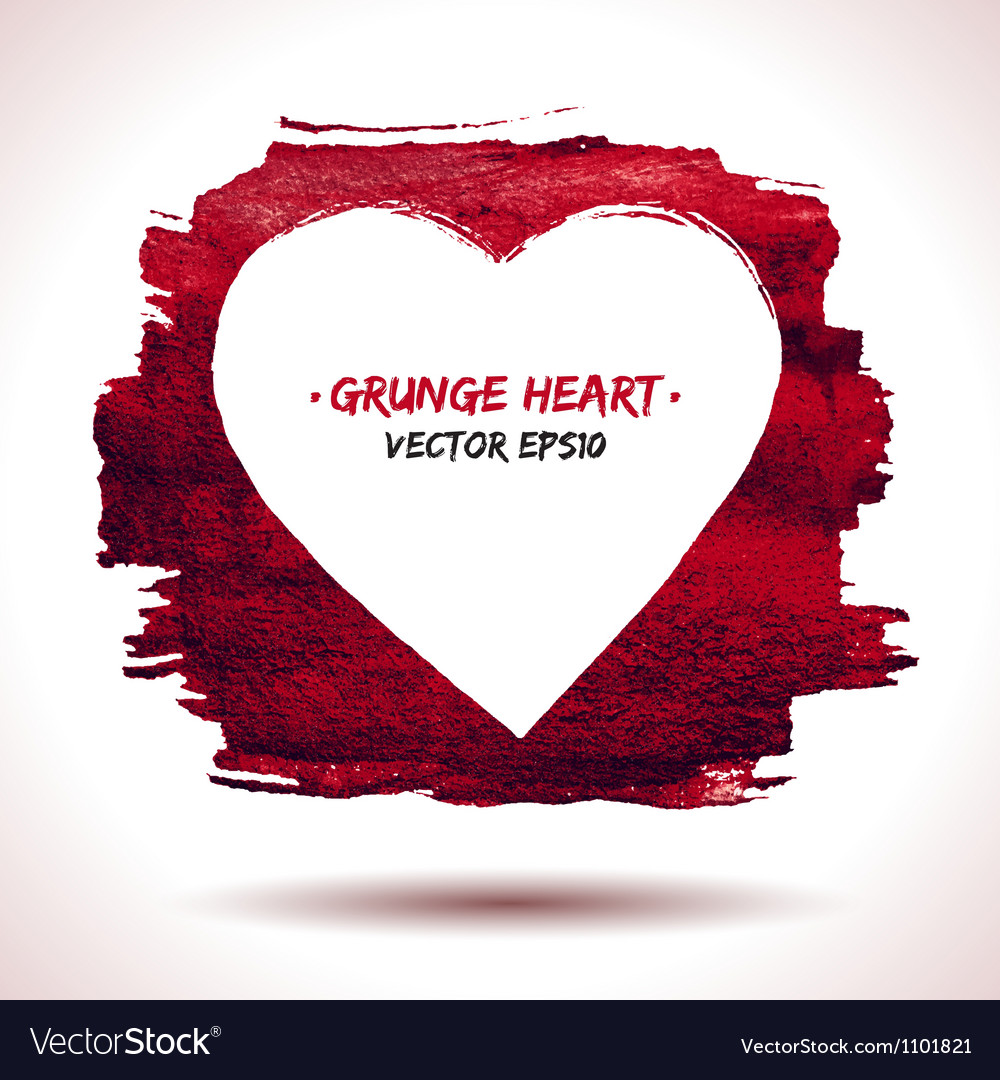 Grunge heart background vector