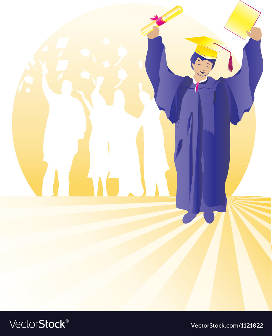 Graduate with certificate vector
