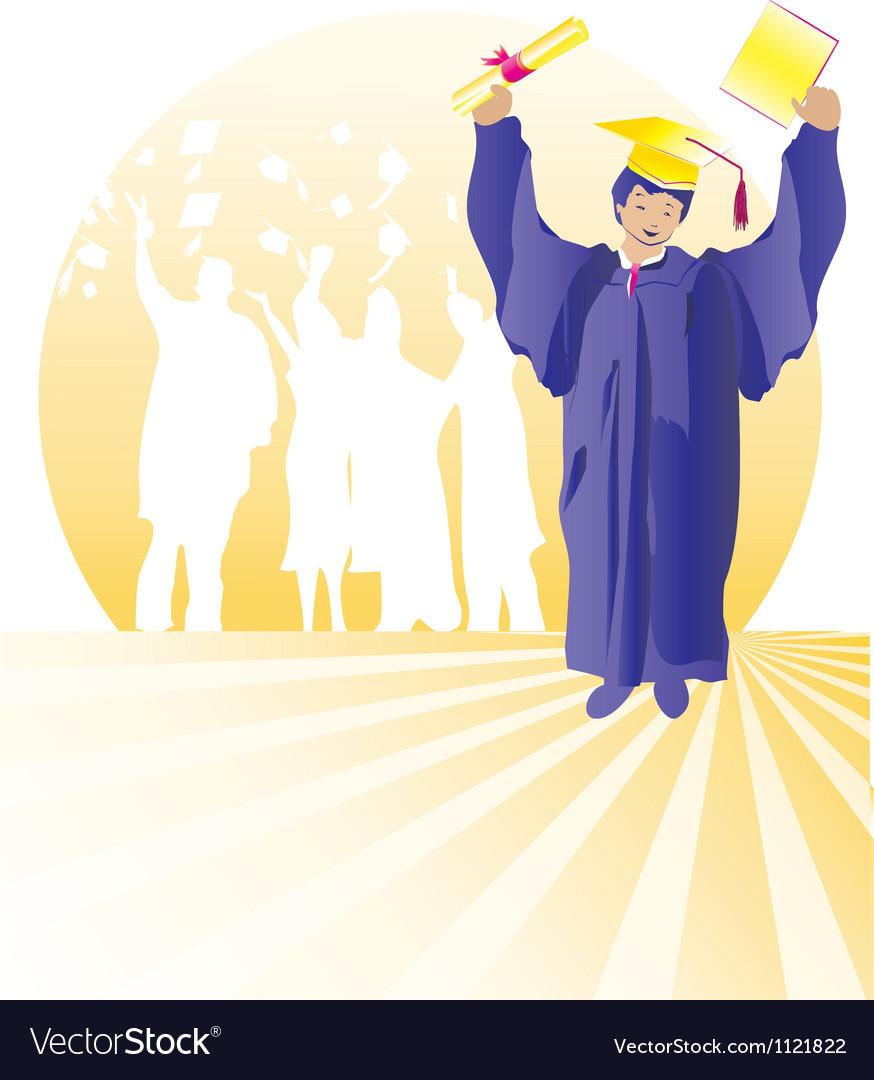 Graduate with certificate vector