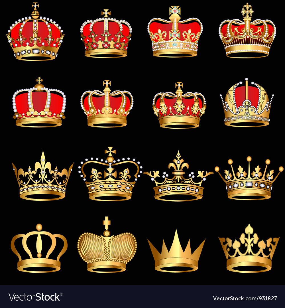 Royal crowns vector