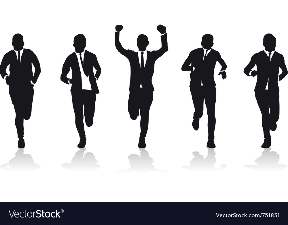 Business men running vector