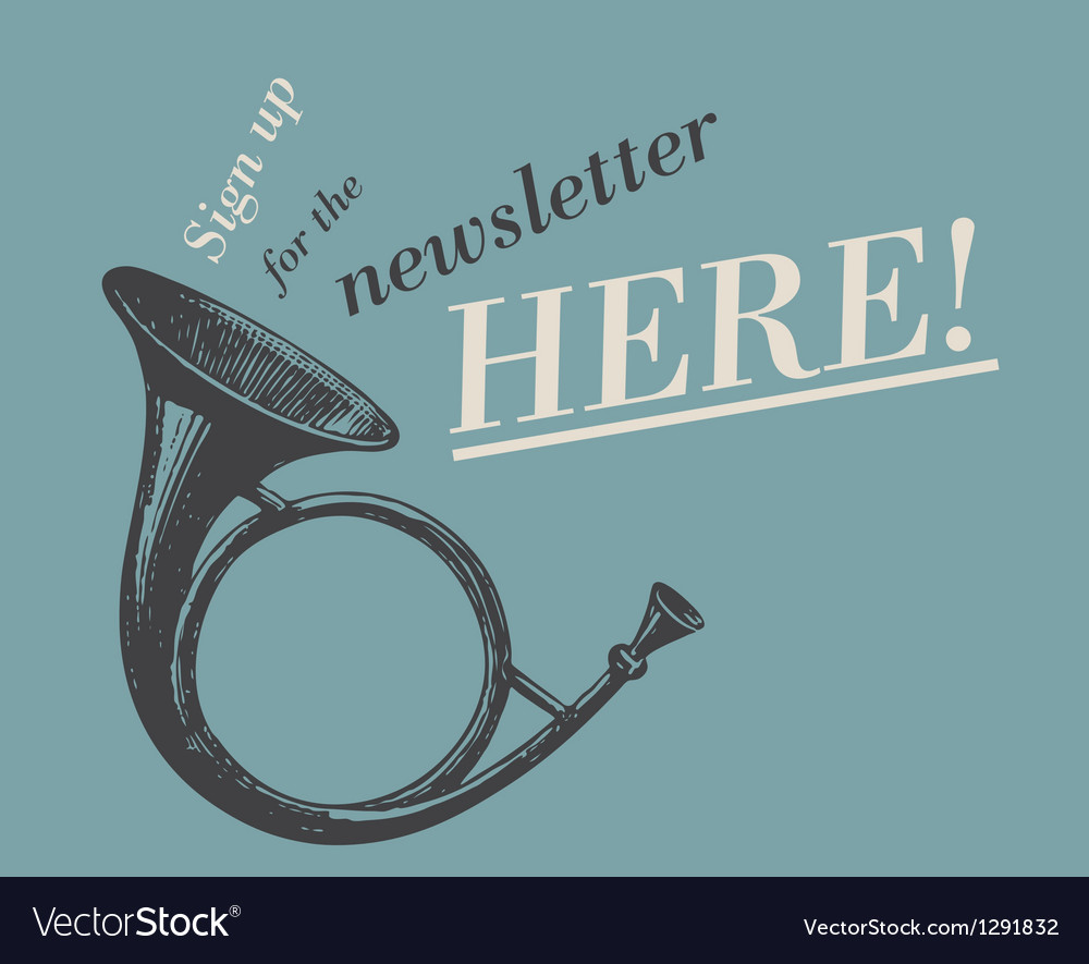 Newsletter web ad vector