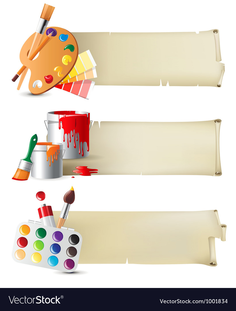 Artistic banners vector