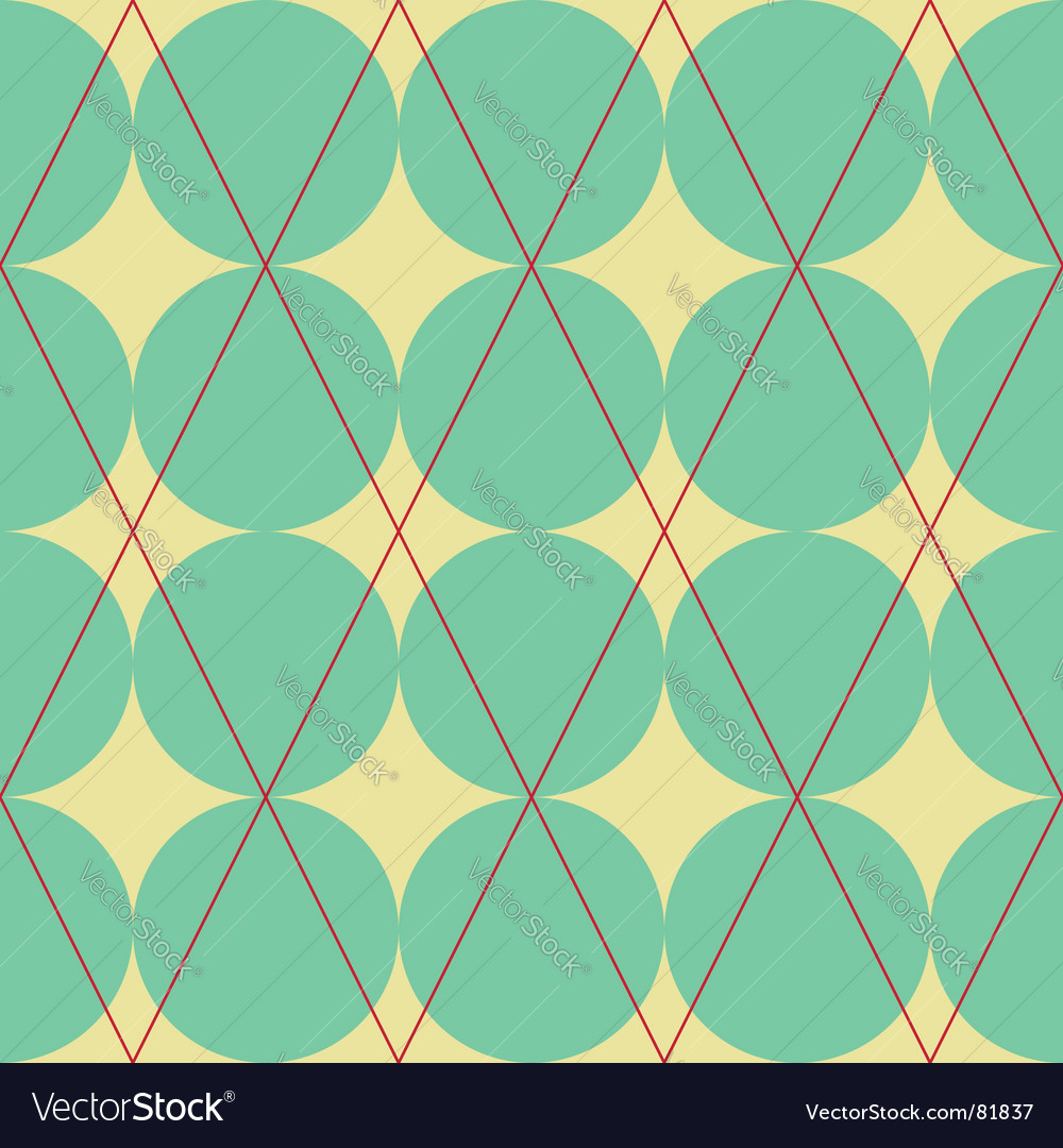 Diamond and circles texture vector
