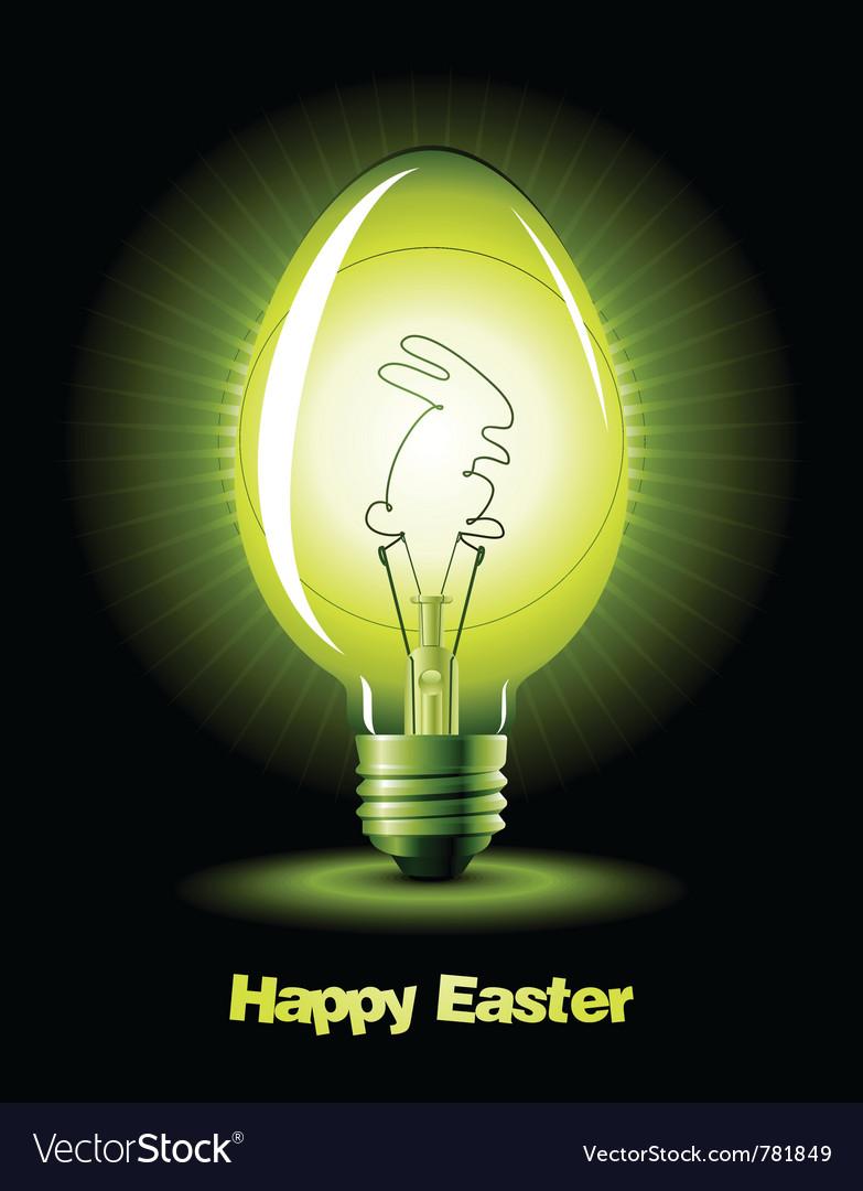 Easter bulb vector