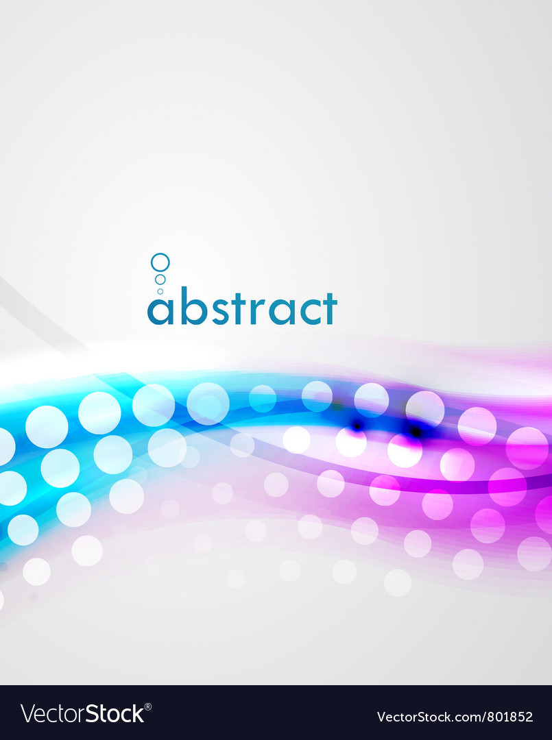 Abstract blur wave background vector