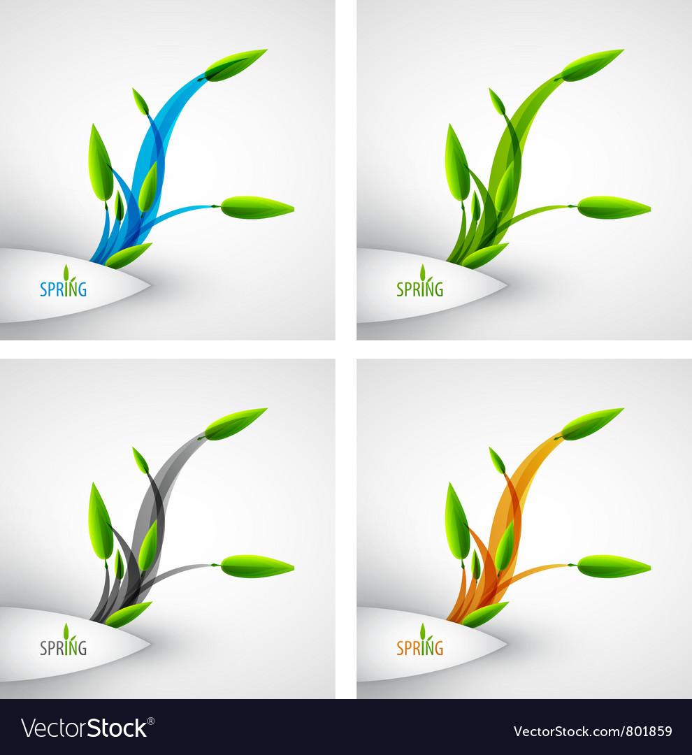 Spring concept vector