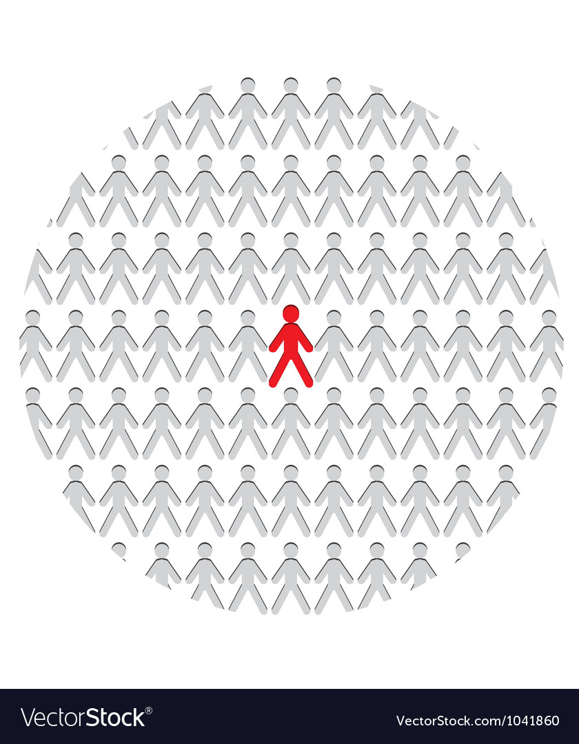 Standing out of crowd vector