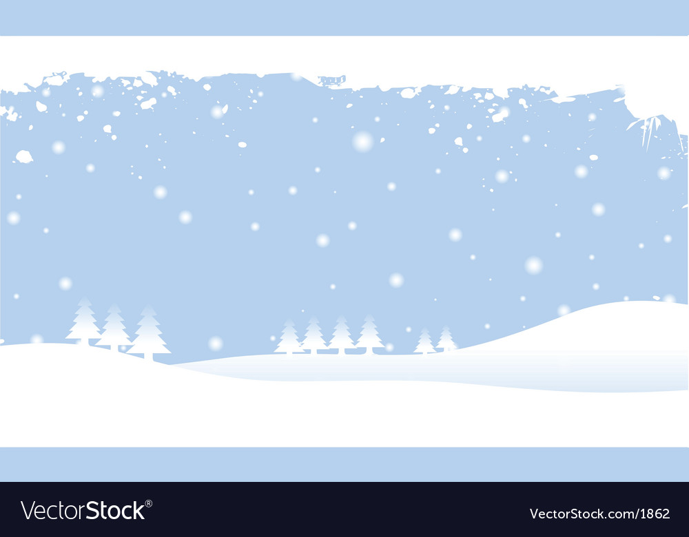 Snow scene vector