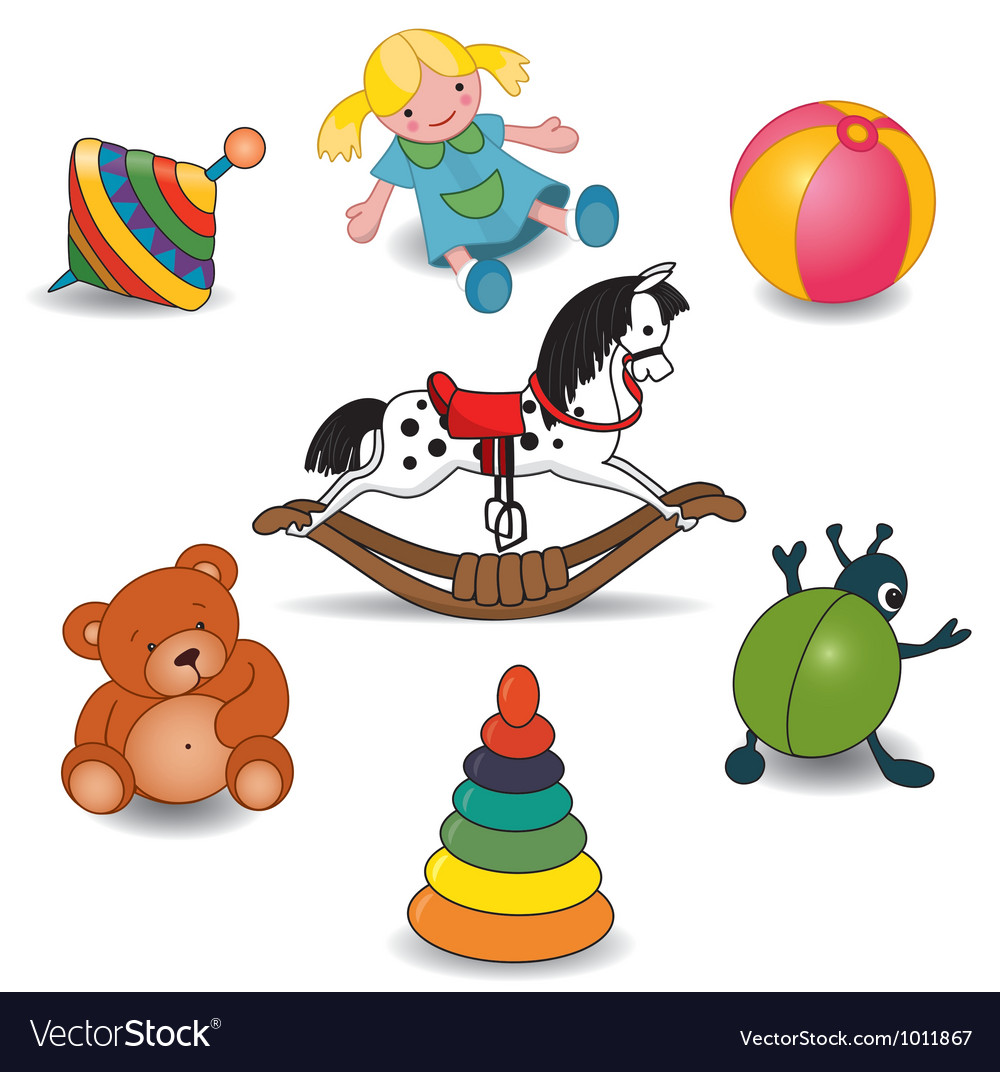 Children toy set vector
