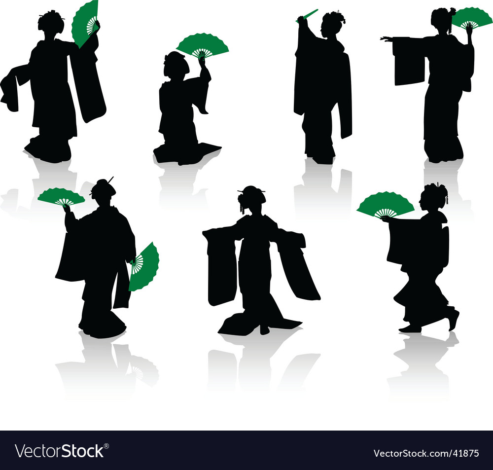 Japan dance vector