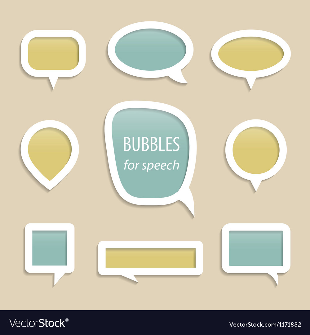 Bubbles for speech collection vector