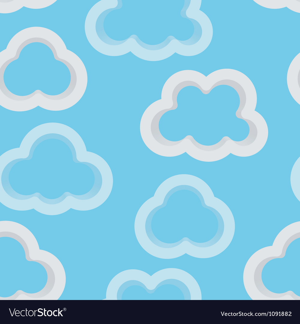 Clouds 3d vector