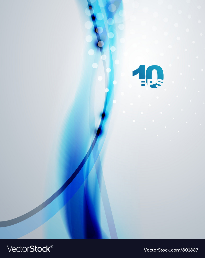 Abstract blue waves background vector