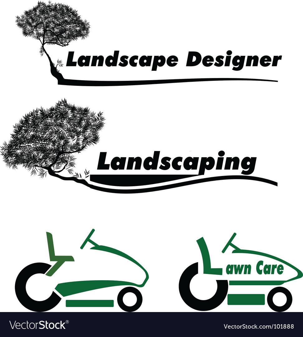 Lawn care vector