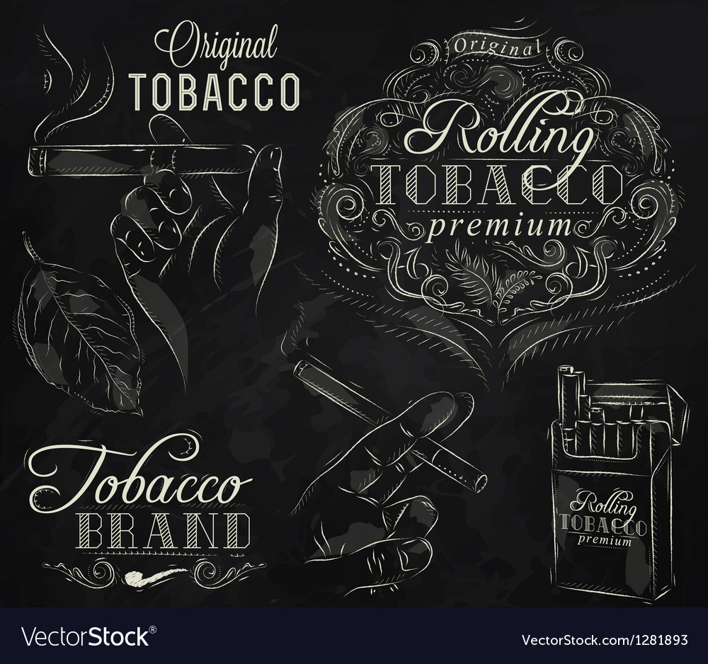 Tobacco chalk vector