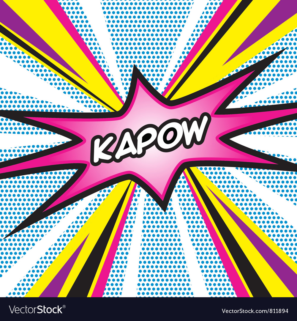 Kapow pop art vector