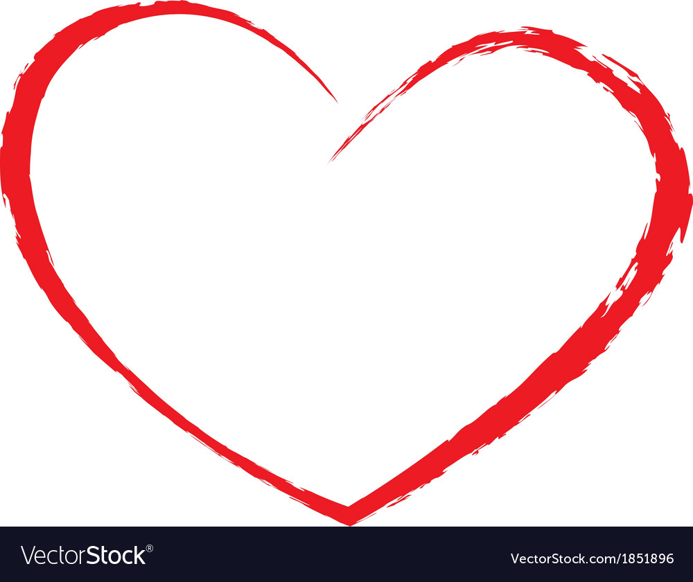 Heart drawing vector by afe207 - Image #1851896 - VectorStock