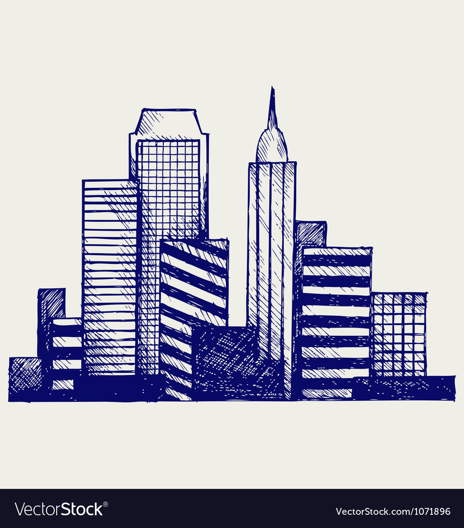 Panoramic city vector