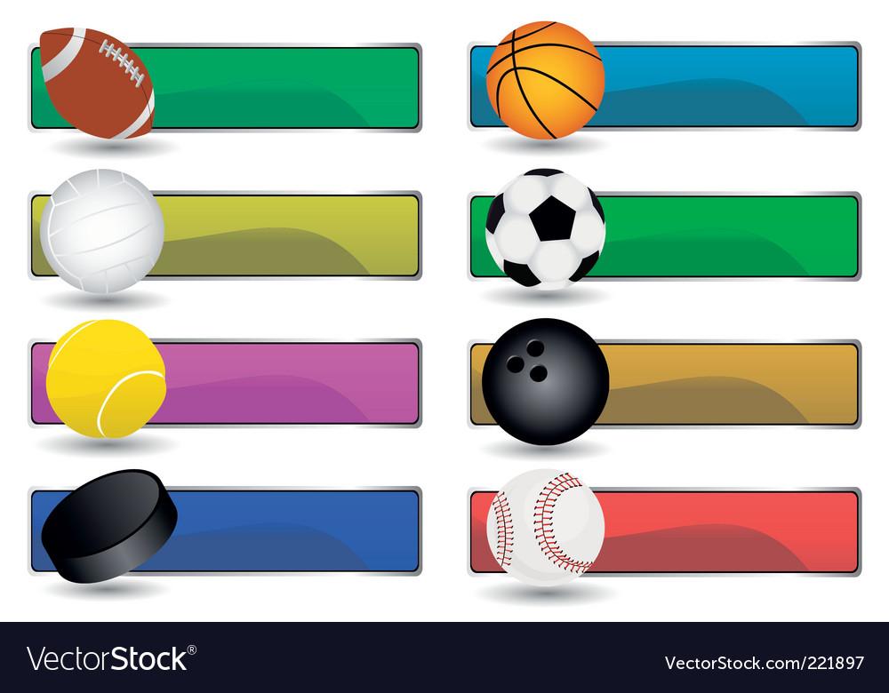 Sport banners vector