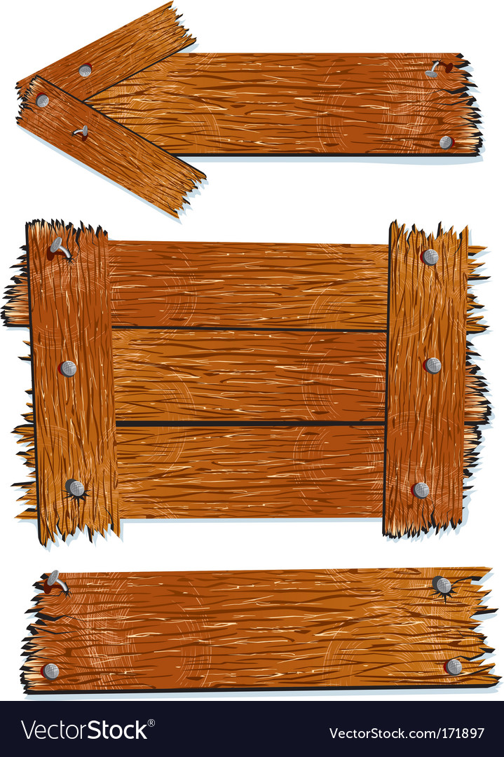 Wooden signs vector