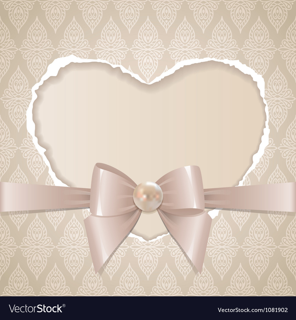 Card with paper heart vector
