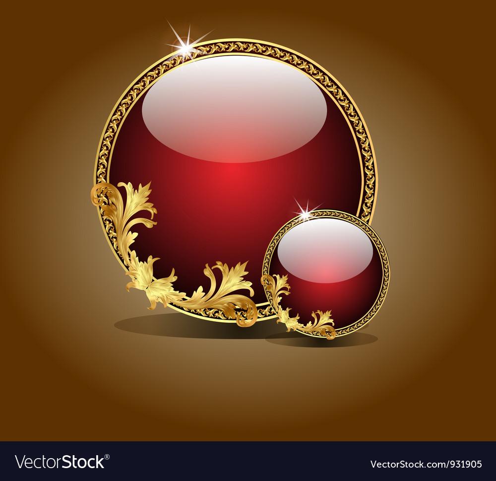 Embellish jewel vector