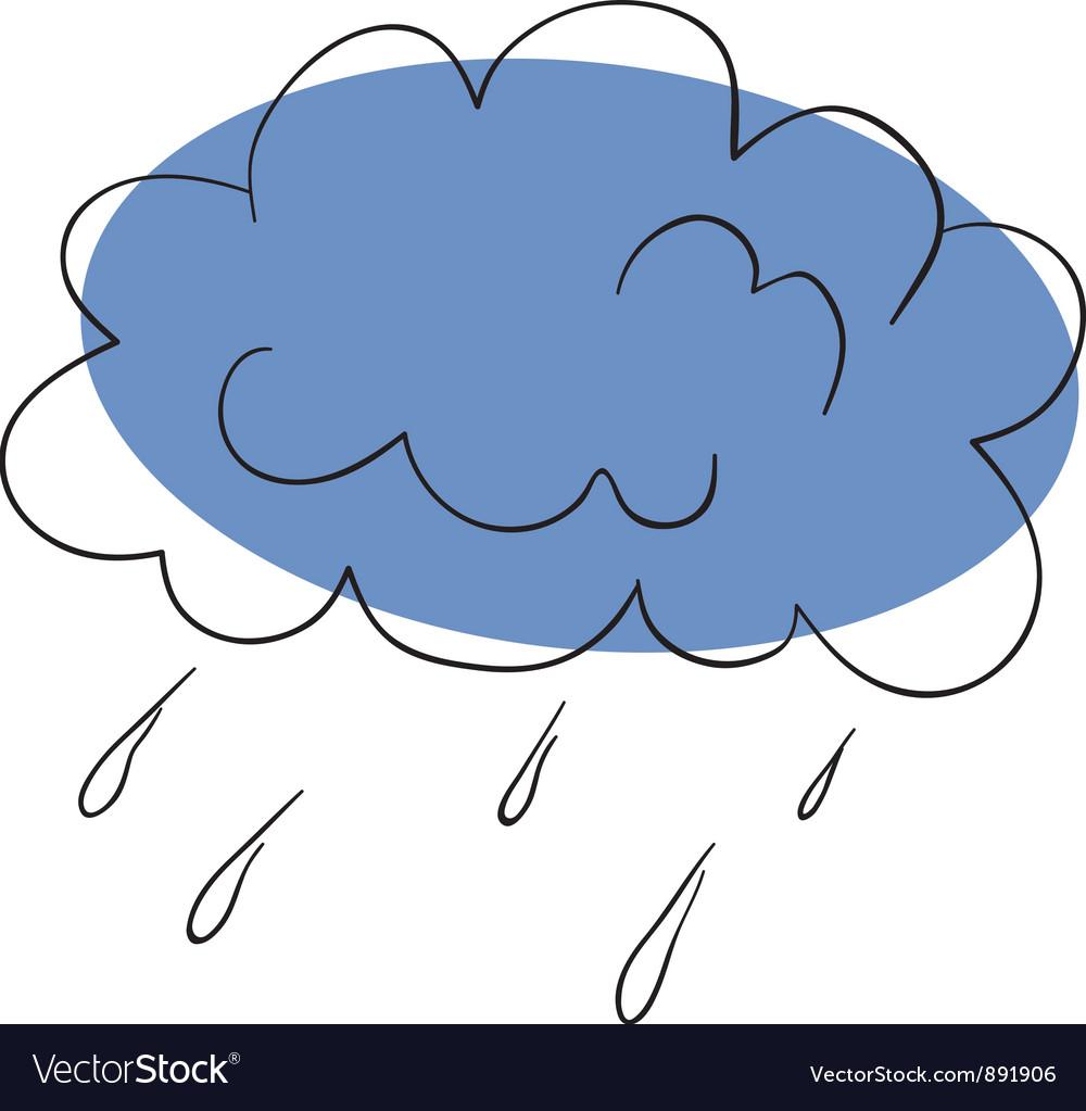 Thunderstorm vector