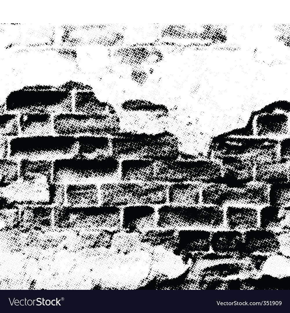 Grunge wall vector