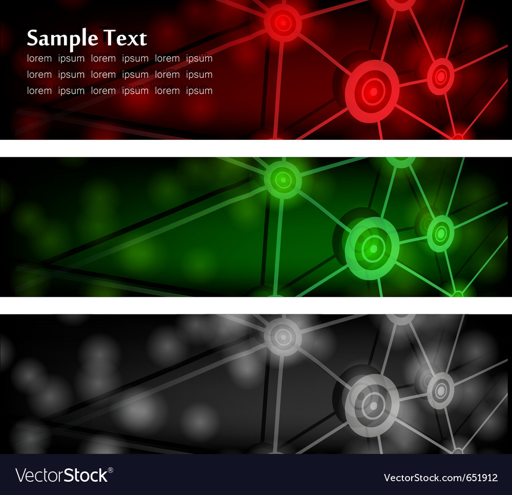 Abstract glowing banners vector